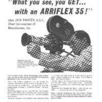 What you see you get with an Arriflex 35