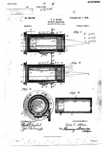 Page from Clile Allen zoom lens patent no. 686,788